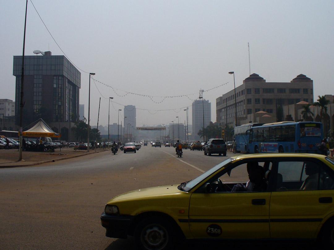 Yaound Cameroon street scene