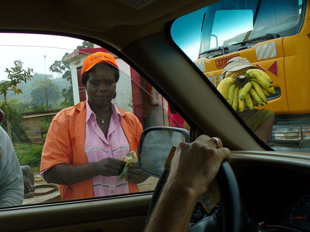 Cameroon highway toll booth