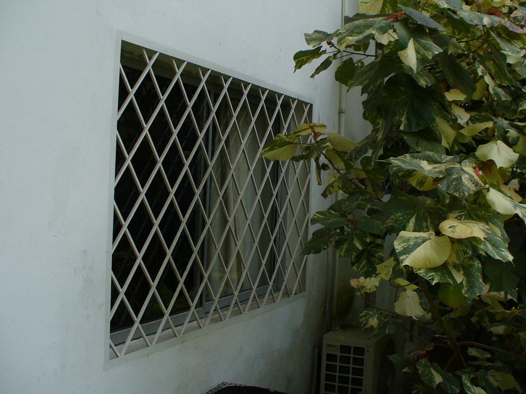 My steel reinforced bedroom window