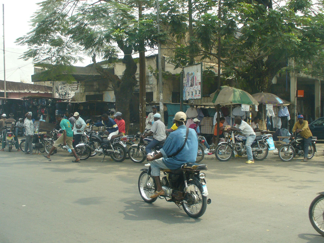 Motorcycle taxis in Africa