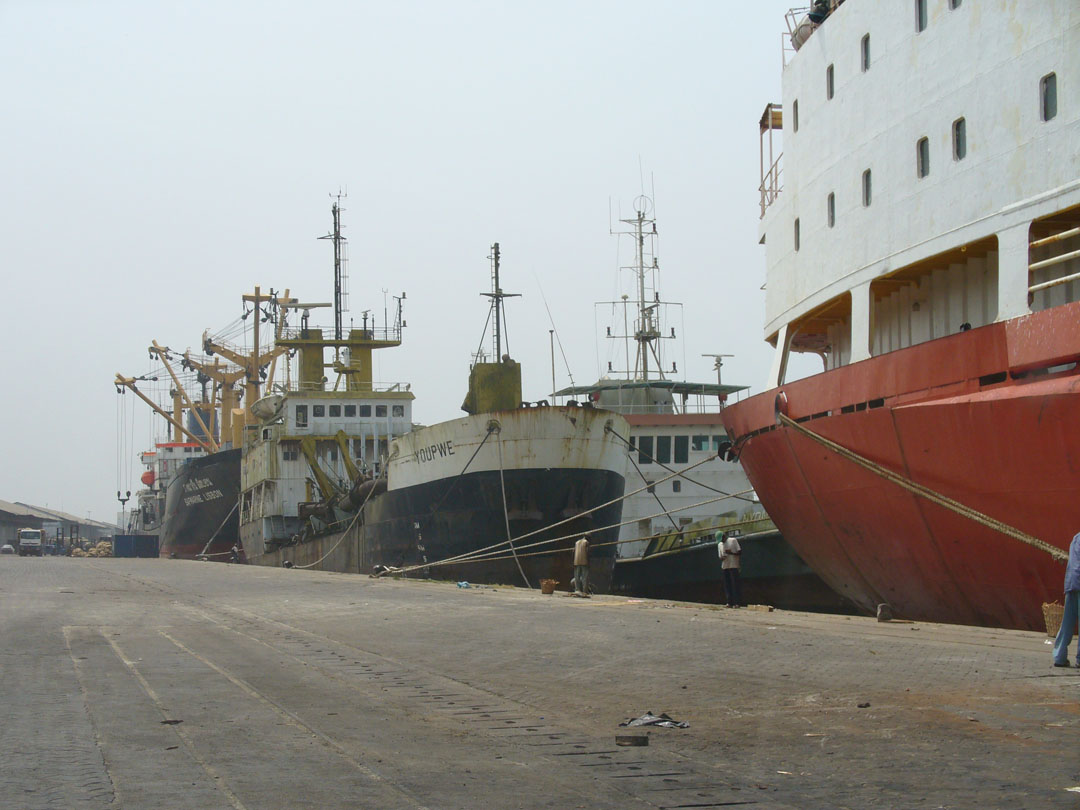 Douala, Cameroon, busy port