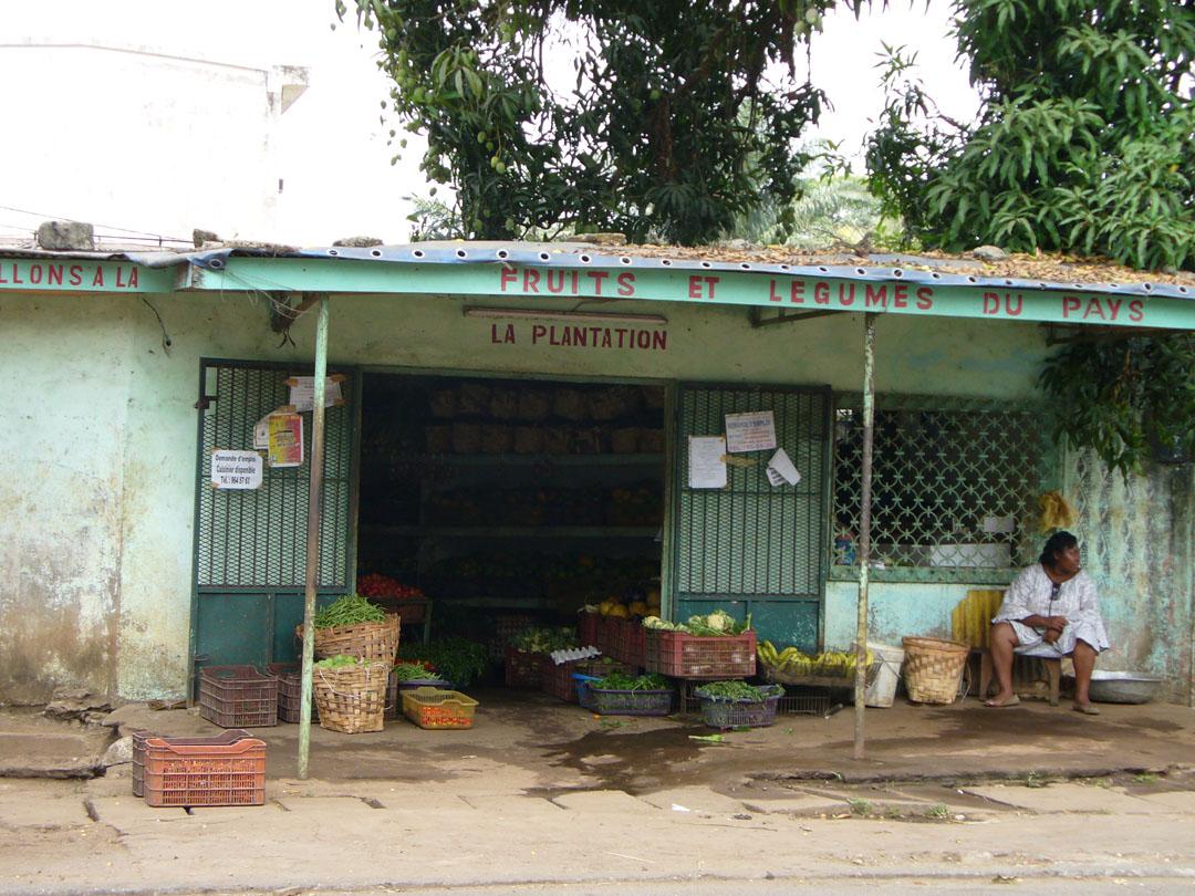 Neighborhood vegetable shop - always soak in water + bleach
