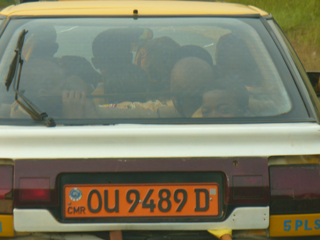 Very crowded African cab