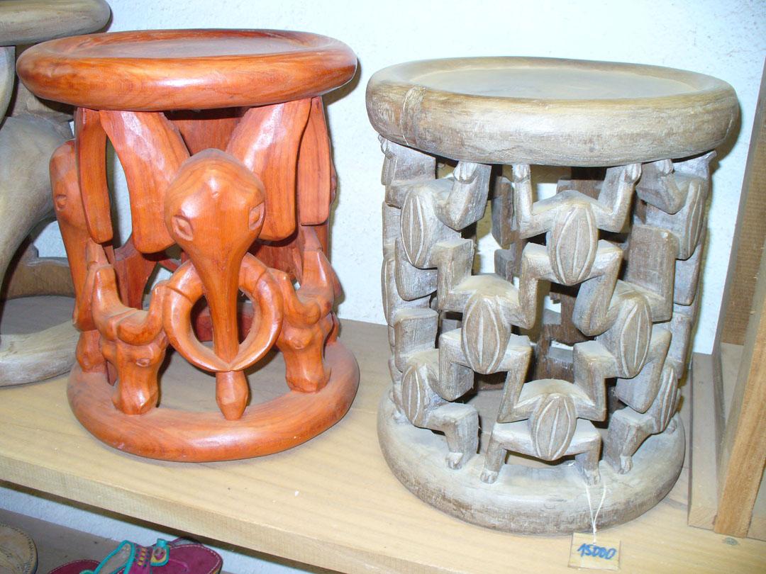 More hardwood carvings