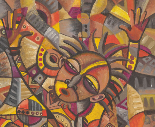 African Dancers painting close
