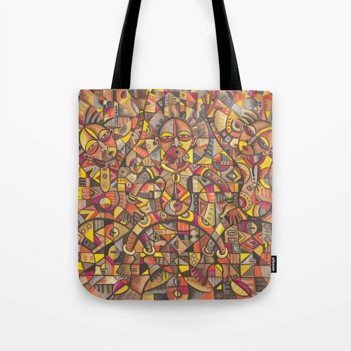 African Dancers tote bag