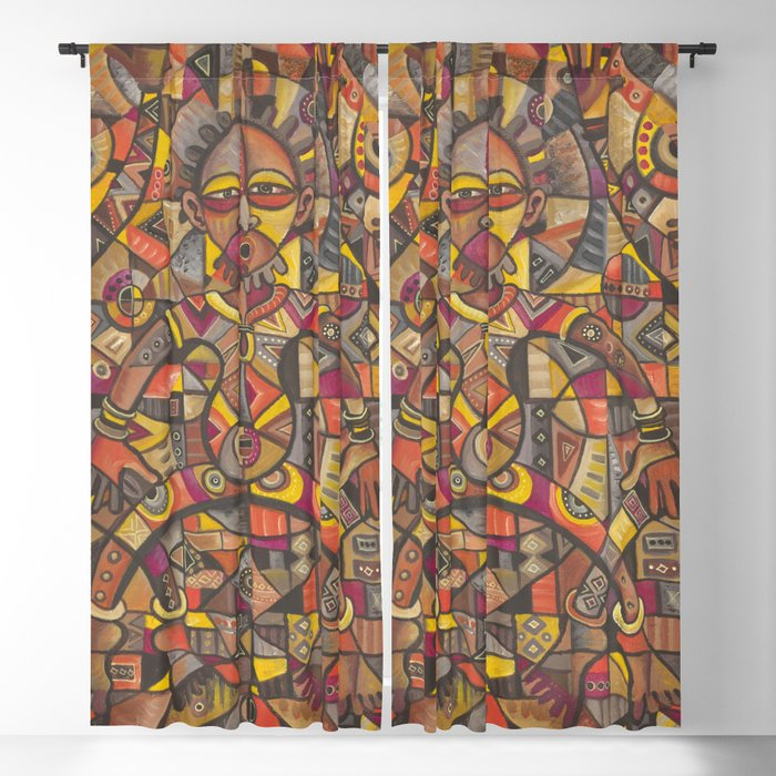 African Dancers curtains