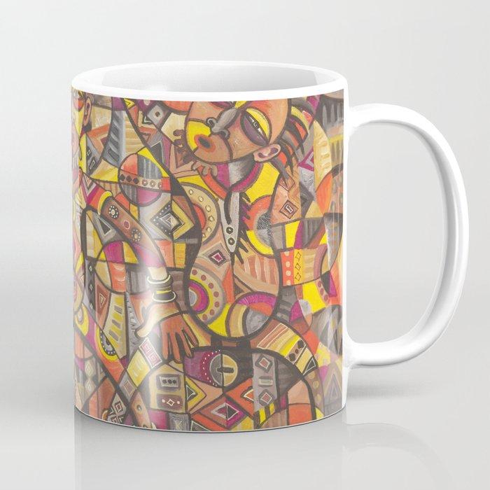 African Dancers coffee mug