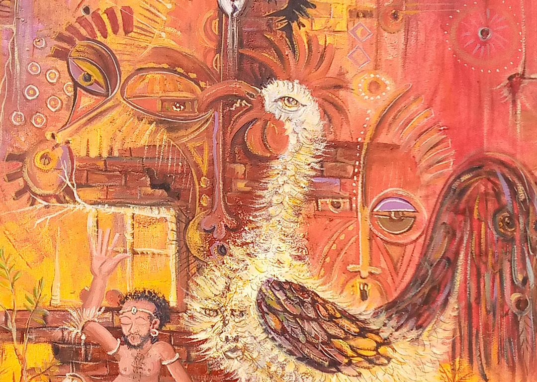 African Juju Society IV voodoo art close