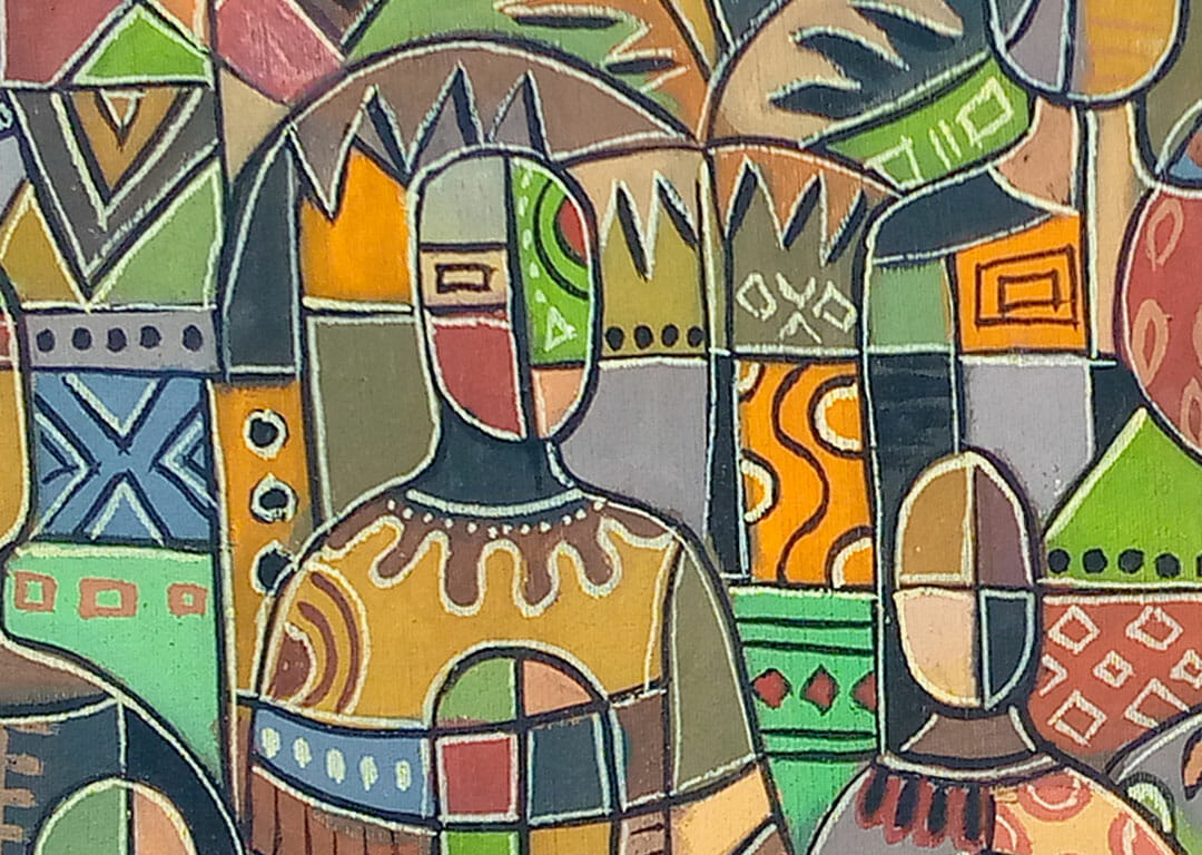 All Heads Together 11 African painting close