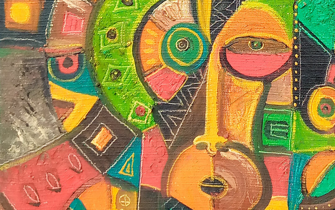 All Heads Together 9 abstract figurative close