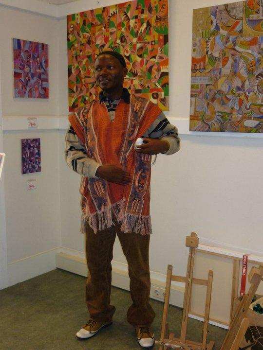 Angu Walters in African garb