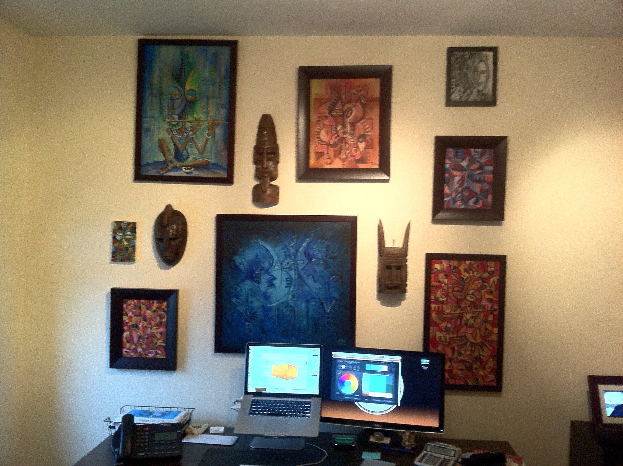 Angu Walters a fan's wall
