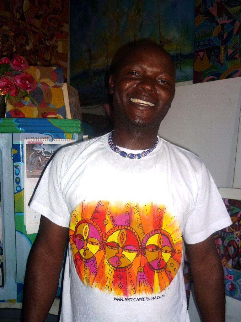 Angu Walters hand painted shirt