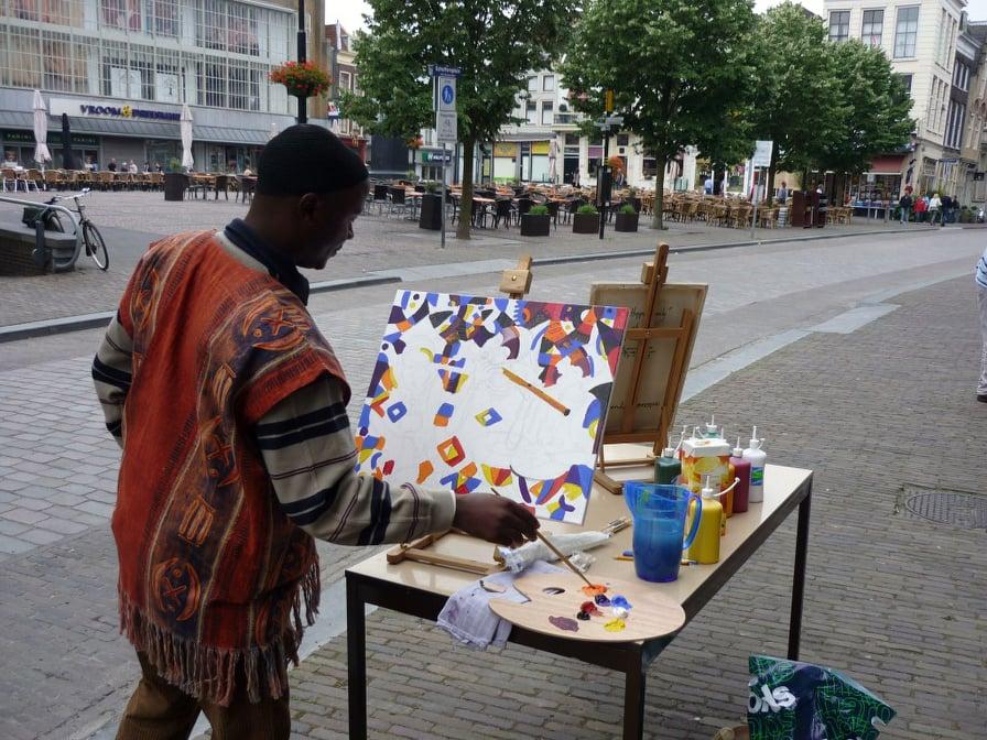 Angu Walters street artist in Netherlands