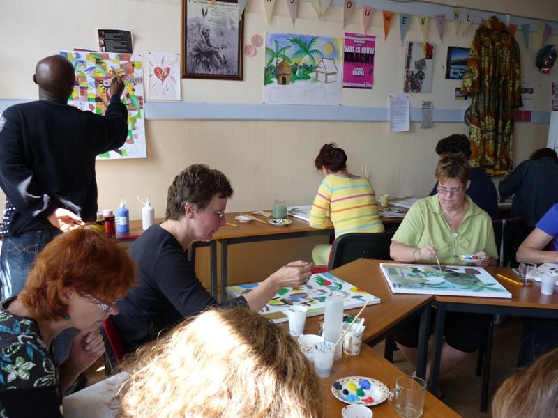 Angu Walters teaches art in Netherlands