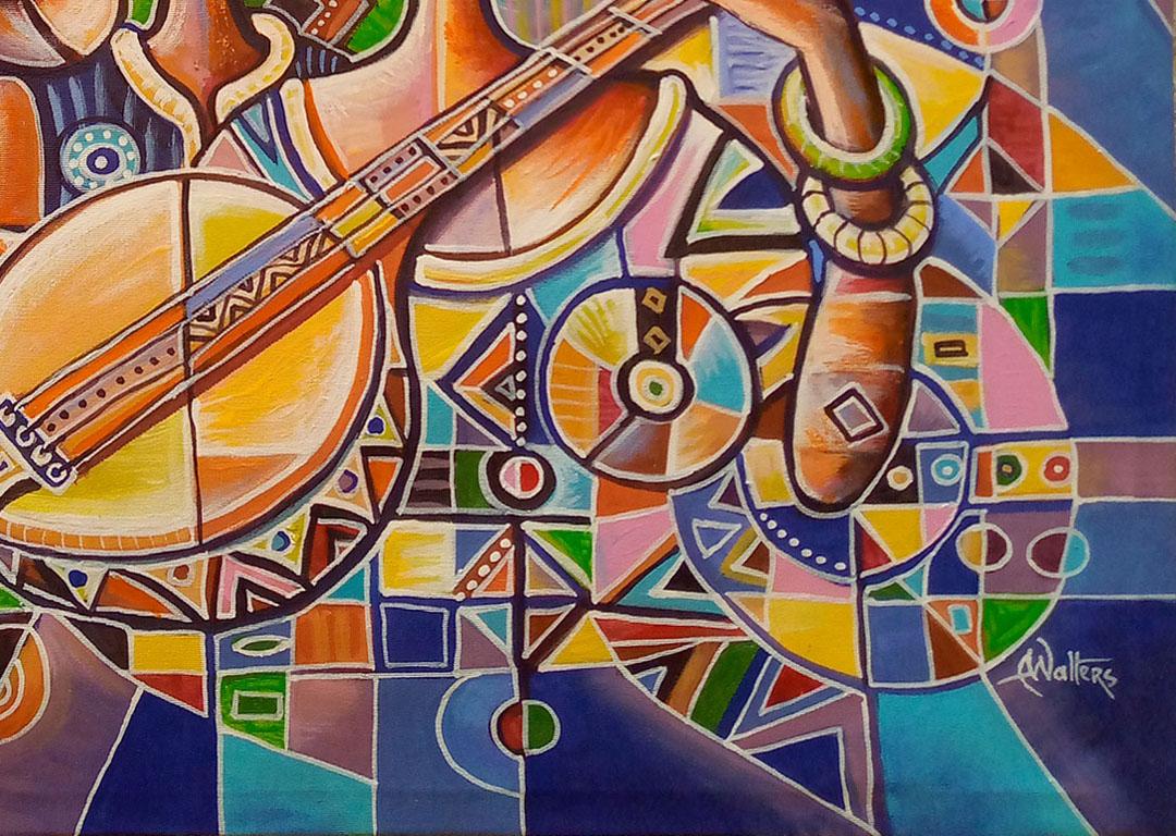 Banjo Player African music duo close