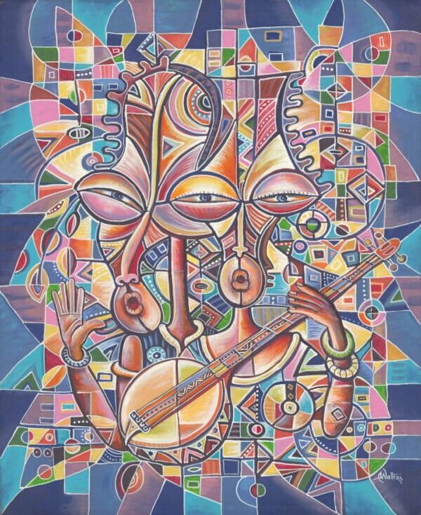 Banjo Player African music duo