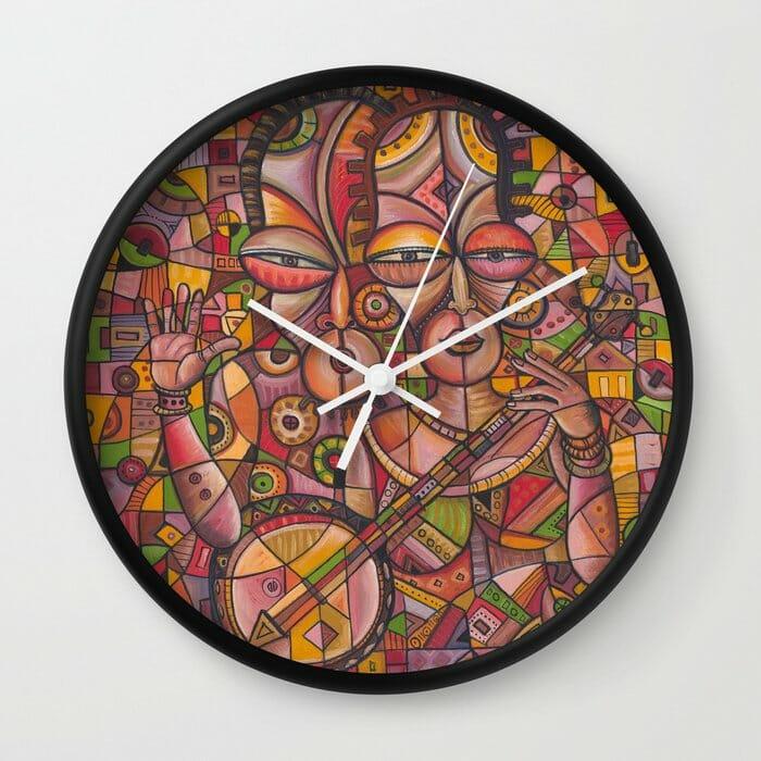 Banjo Players clock
