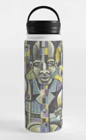 The Blues Band 1 water bottle