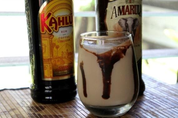 Amarula and Kahlua cocktail