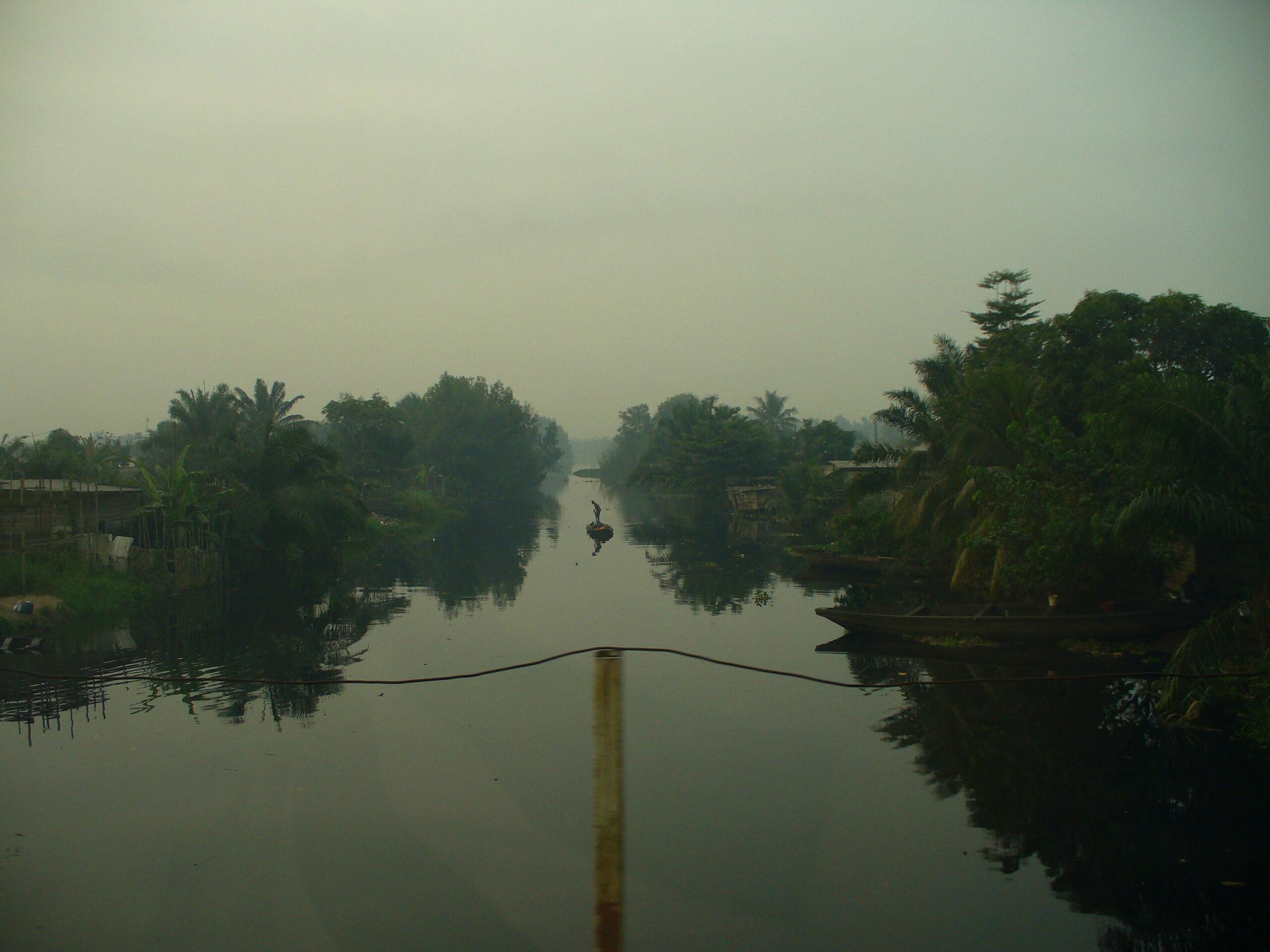 Dreamy Cameroon river scene