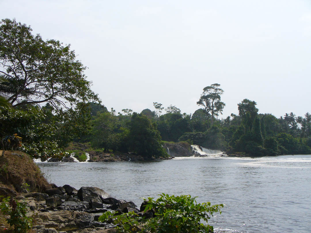 Cameroon seashore waterfalls