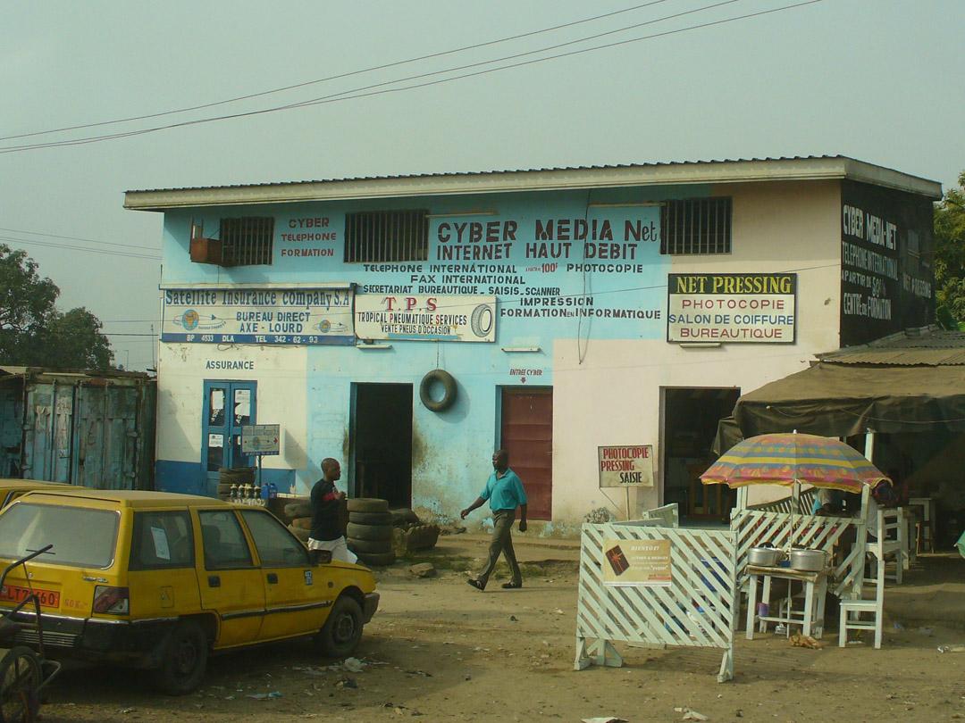 Cameroon internet cafe