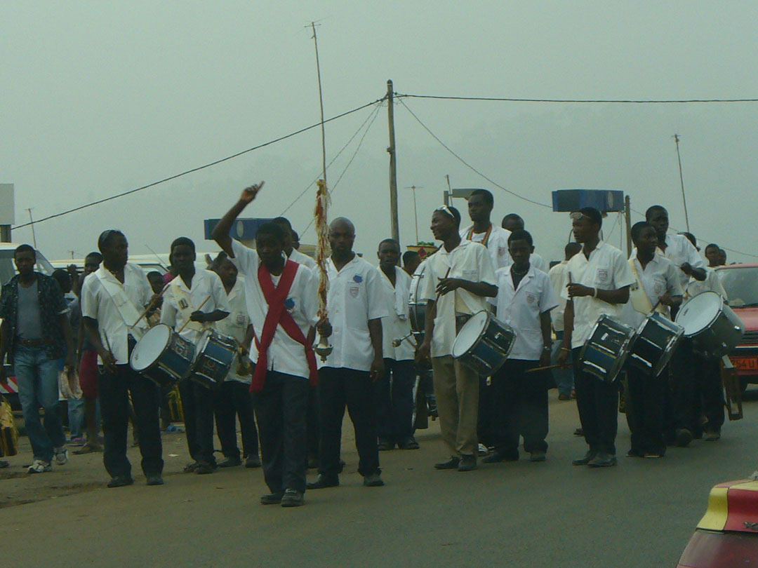 Marching band for funeral