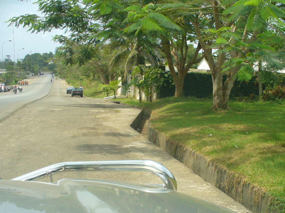 Karibe, Cameroon flood drain