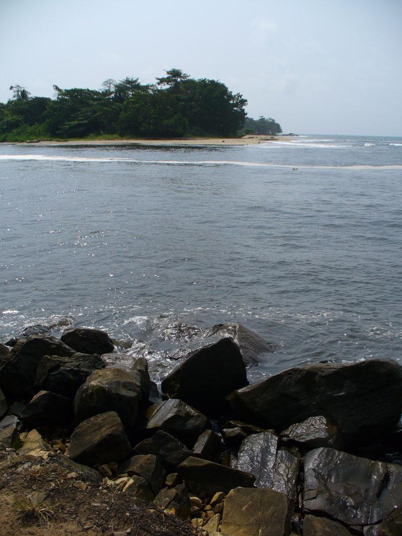 Ocean point near African waterfall