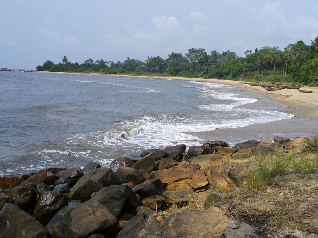 Beach south of Karibe Cameroon near waterfall