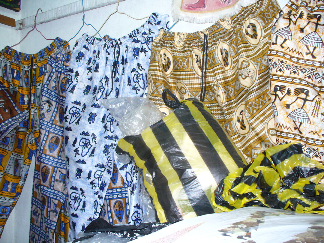 African clothes in bold colors