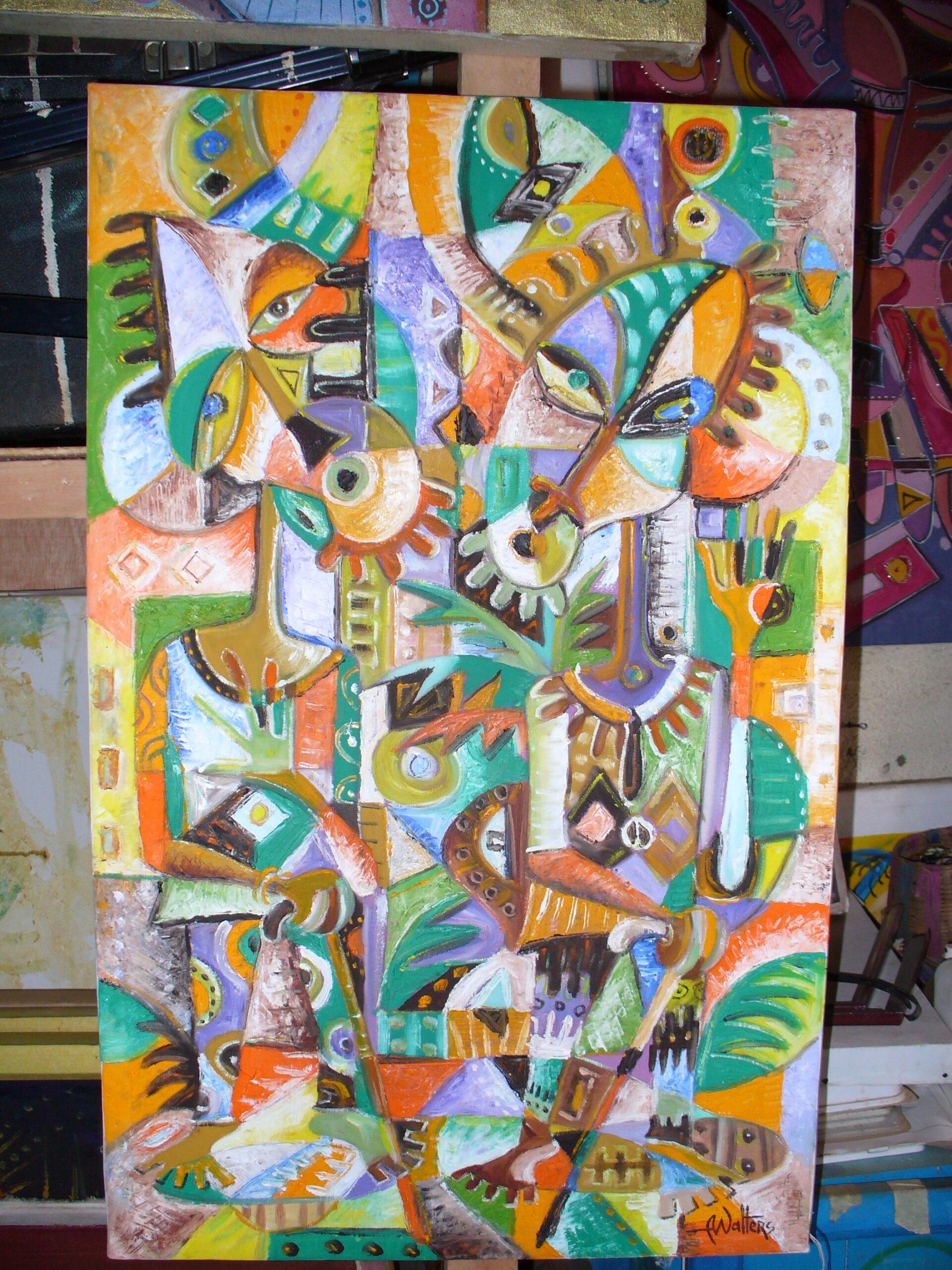 Angu Walters art studio