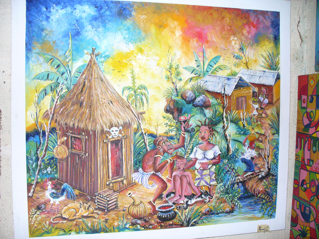 Angu Walters painting of voodoo