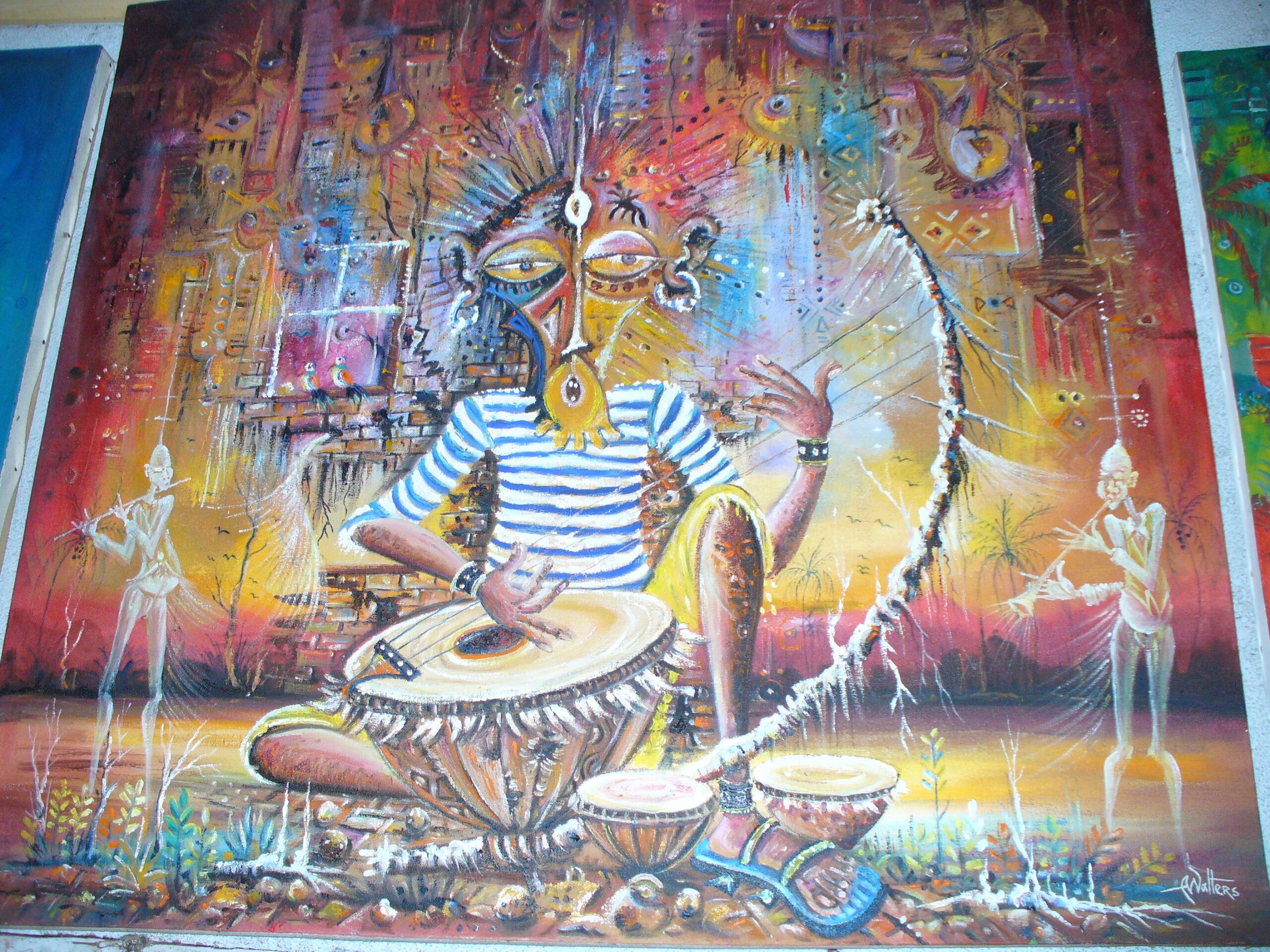 African drummer by Angu Walters