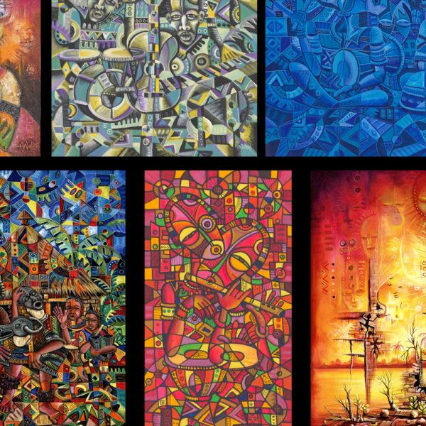 African art prints collage 1c