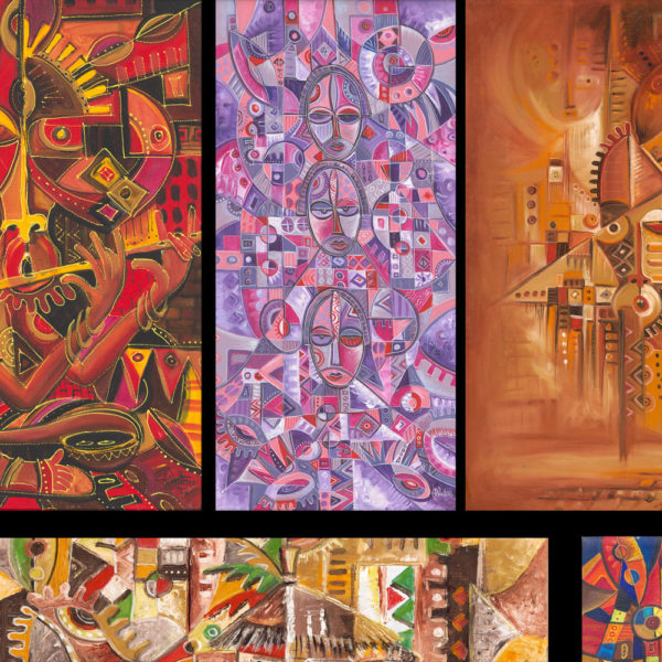 African art prints collage 2a