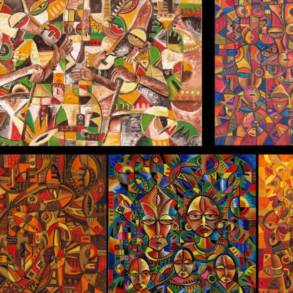 African art prints collage 2c