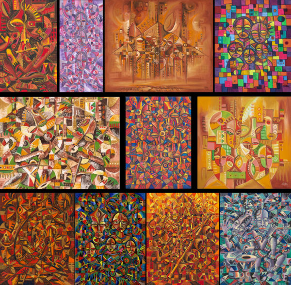 African art prints collage 2
