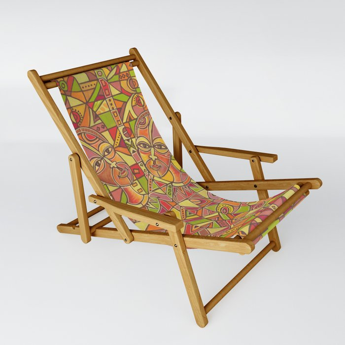 Couple painting Sling chair
