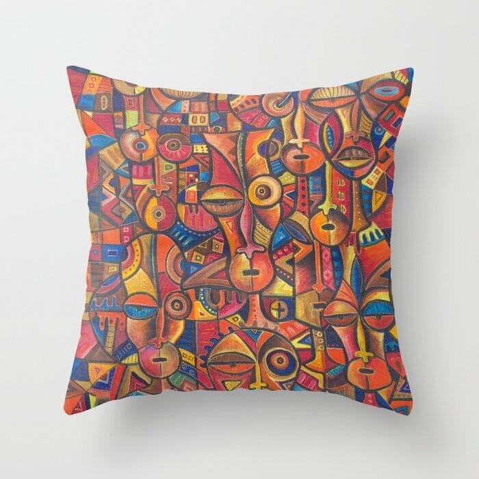 Faces 6 pillow