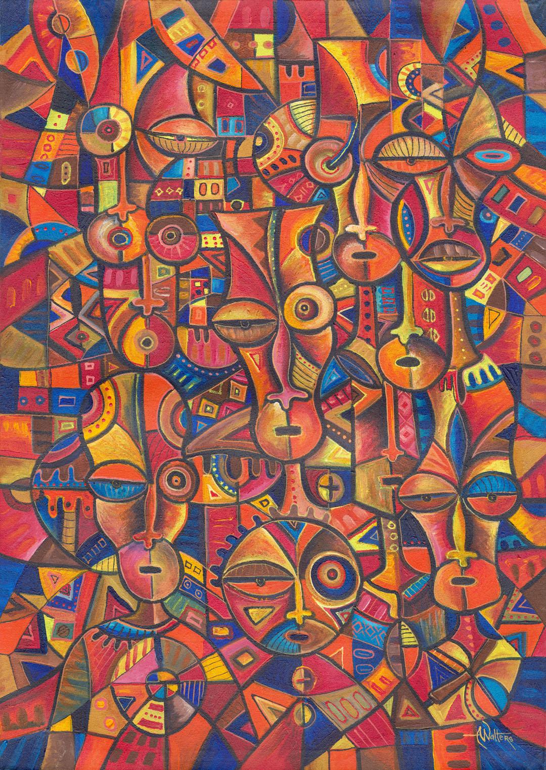 Faces 6 African art