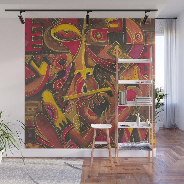 The Flutist 1 wall mural