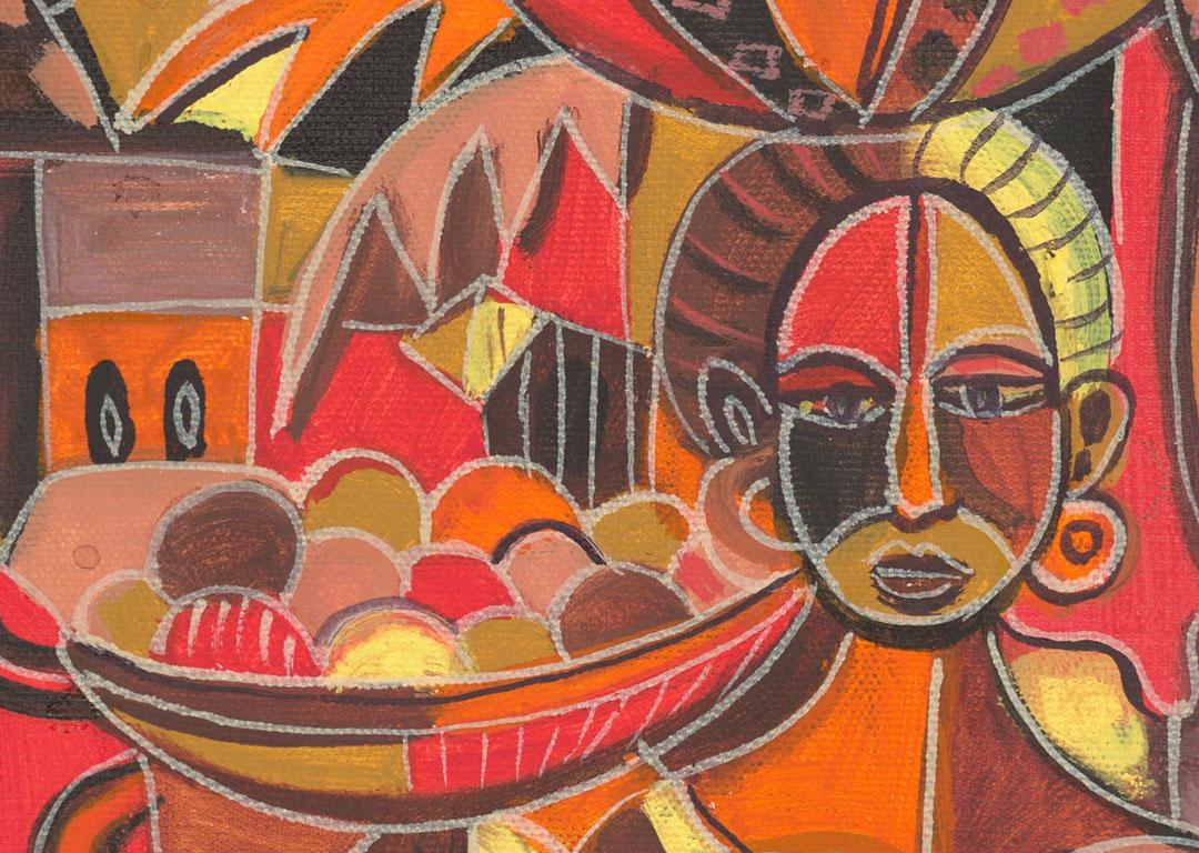 Fruit Sellers African women close