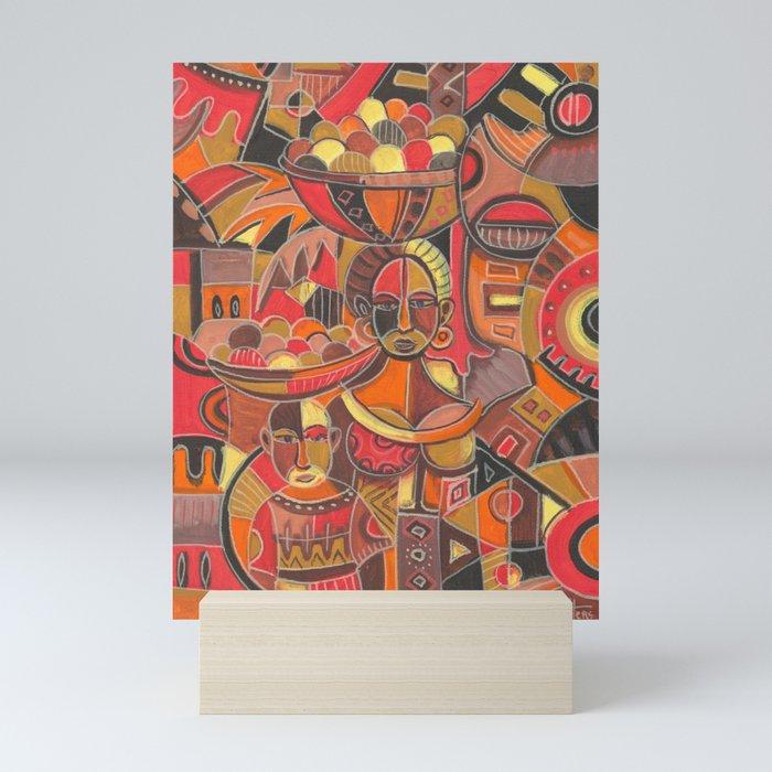 Fruit Sellers mini art print