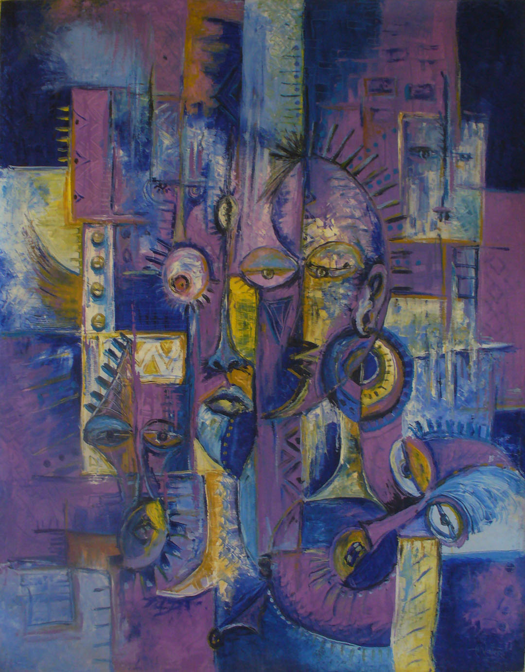 Here is a surreal violet and purple painting by Angu Walters.