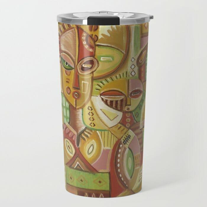 The Happy Family golden travel mug