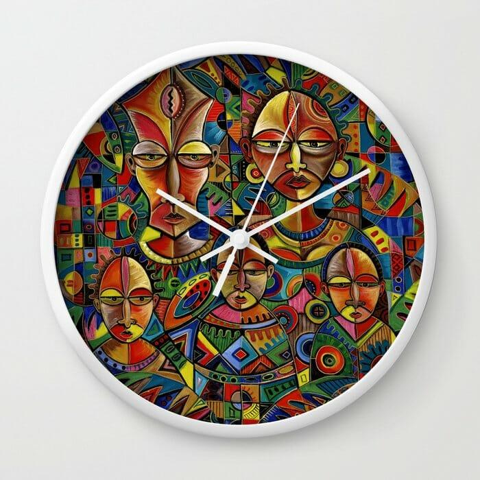 Happy Family 8 wall clock