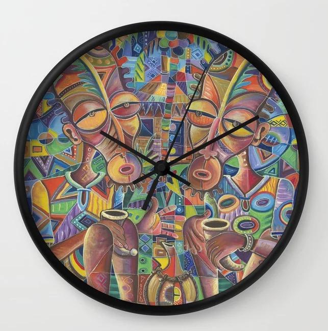 Happy Villagers 4 clock